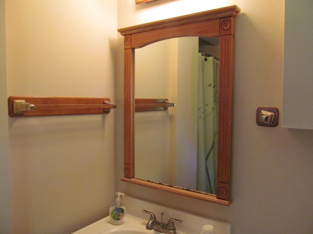 Как сделать крепления для зеркала  из 109